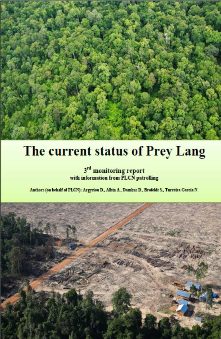 Moniterings Rapporter publiceres af KU studerende på vegne af PLCN THE CURRENT STATUS OF PREY LANG Third Monitoring Report February November 2015 On behalf of: Prey Lang Community Network