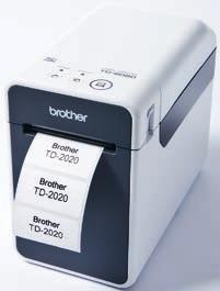 TD-2020 Labelprinter til pc (Windows XP eller nyere) Opløsning: 203 dpi Leveres inkl. adapter, cd-rom med printerdriver, P-touch Editor 5.0, P-touch Transfer Manager 2.