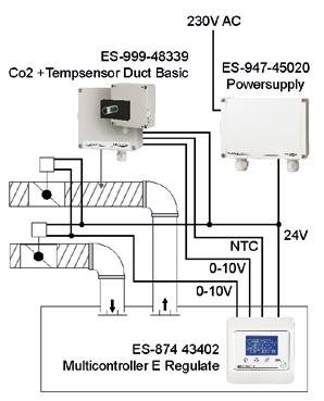ES-999-48331 Co2 + Tempsensor Basic ES-874-43402 Multicontroller E