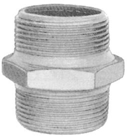 Galvaniserede fittings Brystnippel #280 000280401 1/8 16,00 000280402 1/4 15,00 000280403 3/8 16,00 000280404 1/2 10,00 000280406 3/4 12,00 000280408 1 18,00 000280410 1¼ 28,00 000280411 1½ 32,00