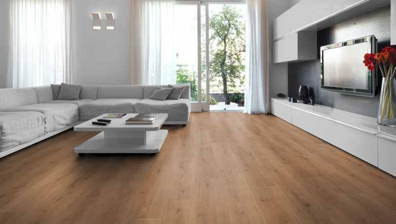 KT ADVANCED 3125 Eg natur, plank KT Advanced Laminatgulv er et flot rustikt