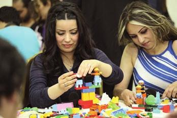 The conference was on learning and creativity as tools for human and national development and consisted of relevant speakers from LEGO, Massar and the Danish ambassador to Syria Christina Markus