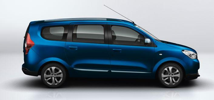 Dacia Lodgy Van RATIONEL OG ROBUST VAREBIL MED STOR KAPACITET Dacia Lodgy fås også