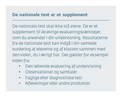 De nationale test er et supplement