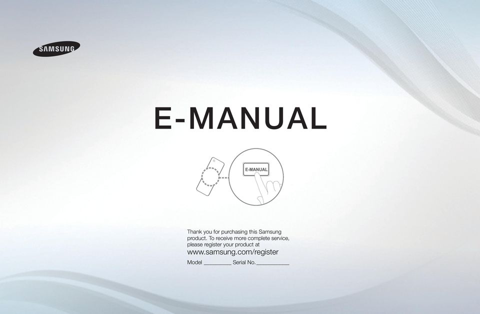 E MANUAL. Thank you for purchasing this Samsung product. To