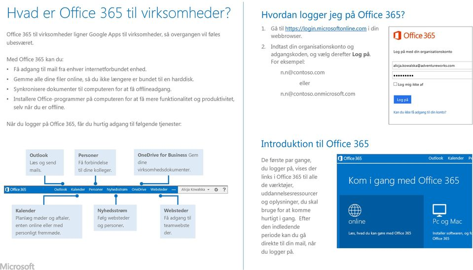 Synkronisere dokumenter til computeren for at få offlineadgang. Installere Office-programmer på computeren for at få mere funktionalitet og produktivitet, selv når du er offline.