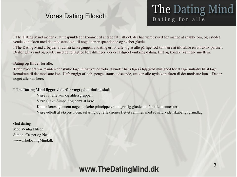 Dating site for filosoffer