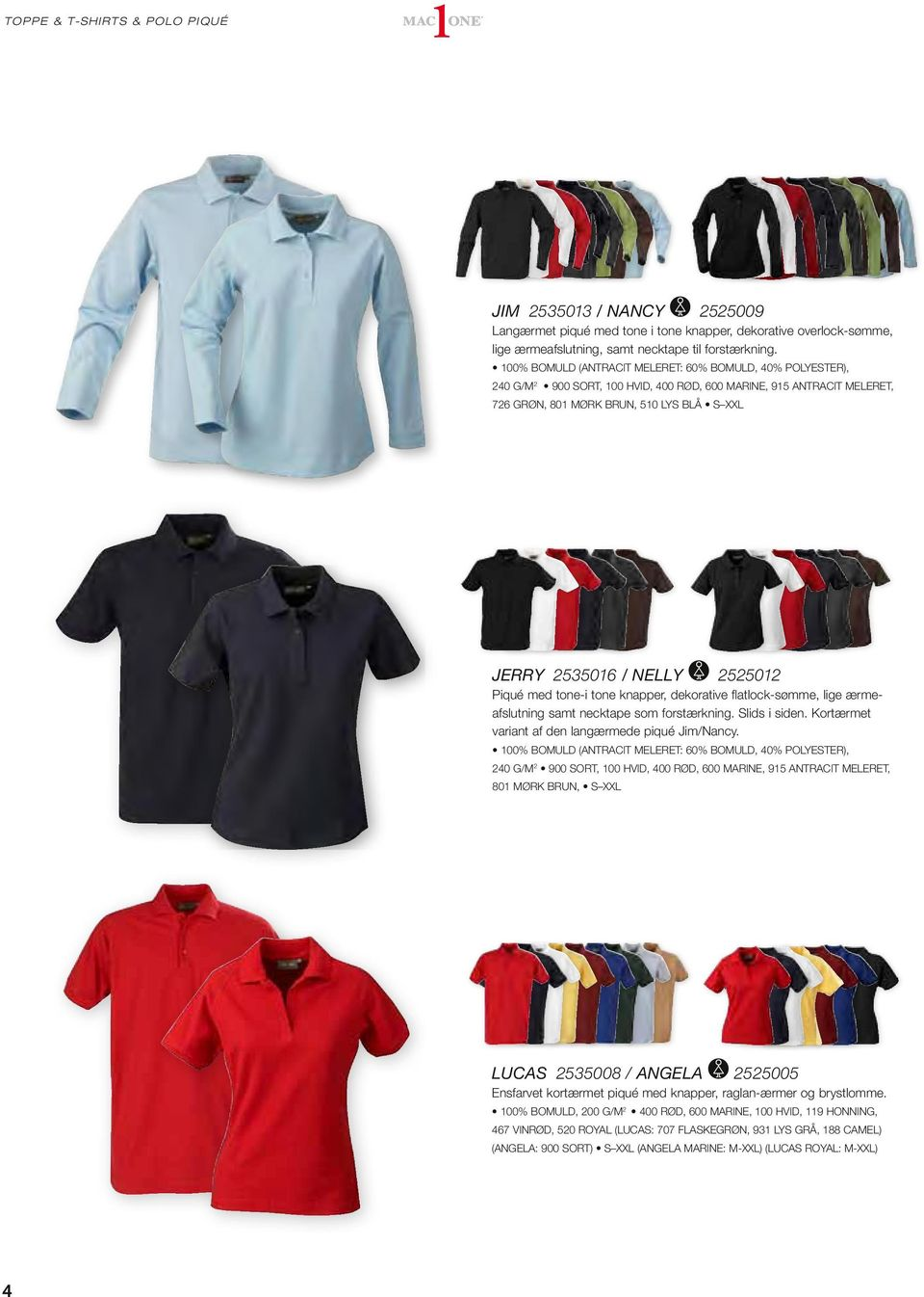 INDHOLD TOPPE, T SHIRTS & POLO PIQUÉ 4. CollegE 17 JAKKER