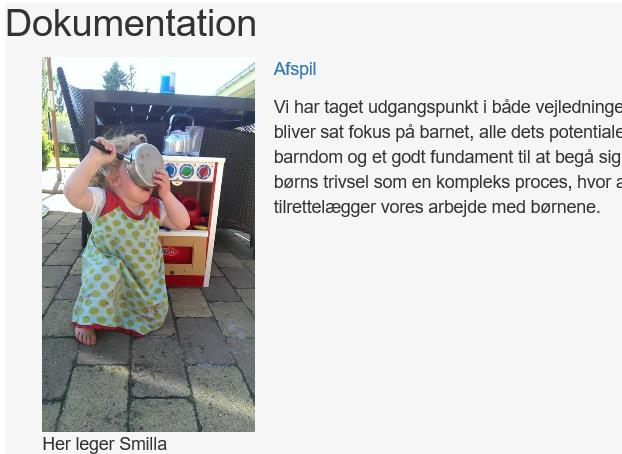 Under dokumentationen, hvor der er tale om film, kan du klikke på Afspil for at