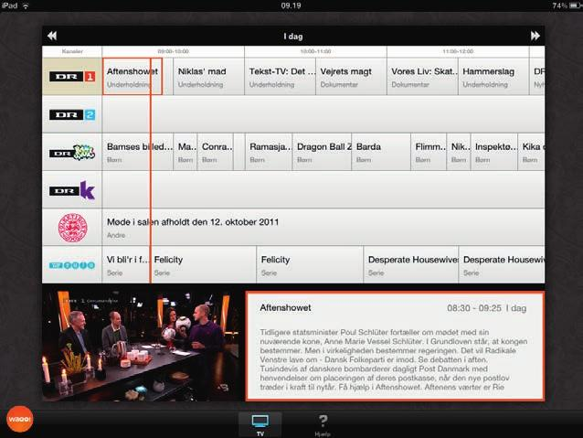 Kanalliste TV Guide TV Guiden er en programoversigt for dine TV-kanaler.