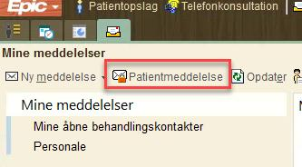 Kommunikation med patienter via Min SP og InBasket Patienten